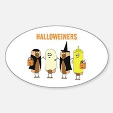 Halloweiners Oval Decal