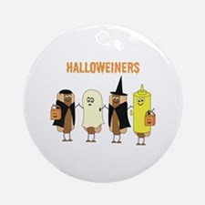 Halloweiners Ornament (Round)
