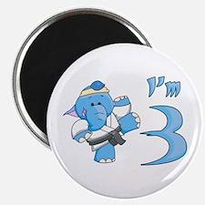 Elephant Karate 3rd Birthday Magnet