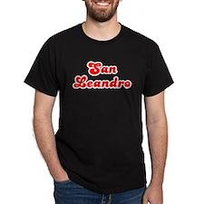 Retro San Leandro (Red) T-Shirt