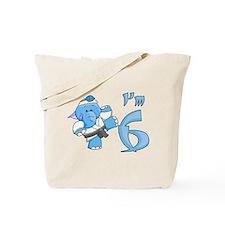 Elephant Karate 6th Birthday Tote Bag