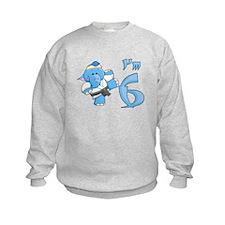 Elephant Karate 6th Birthday Sweatshirt