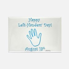 Left Handers' Day Rectangle Magnet (10 pack)