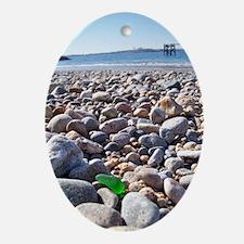 Greasy Pole/Beach GlassOrnament (Oval)
