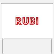 Retro Rubi (Red) Yard Sign