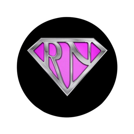 "Super RN - Pink 3.5"" Button (100 pack)"
