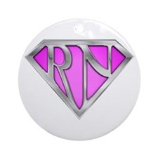 Super RN - Pink Ornament (Round)