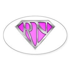 Super RN - Pink Oval Decal