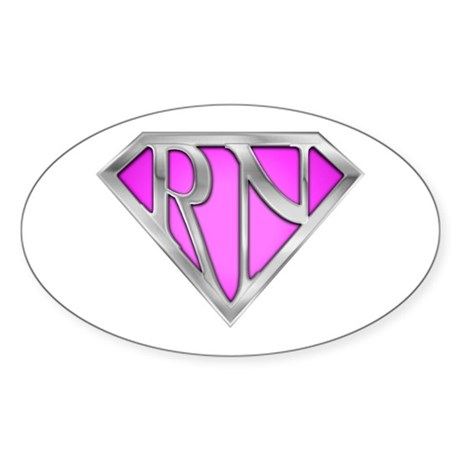 Super RN - Pink Oval Sticker