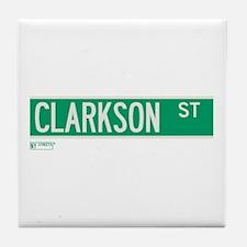 Clarkson Street in NY Tile Coaster