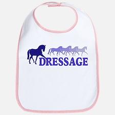 Dressage Horses (blue/purple) Bib
