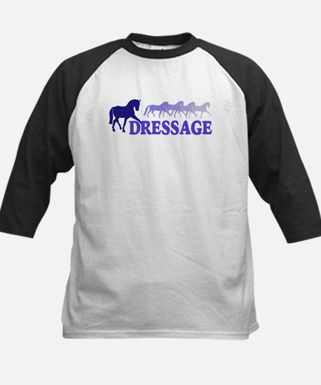 Dressage Horses (blue/purple) Kids Baseball Jersey