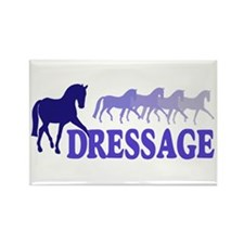 Dressage Horses (blue/purple) Rectangle Magnet