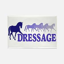 Dressage Horses (blue/purple) Rectangle Magnet