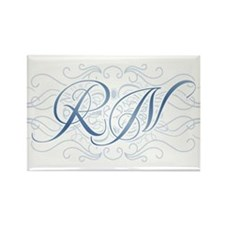 RN Fancy Graphic Nurse Rectangle Magnet