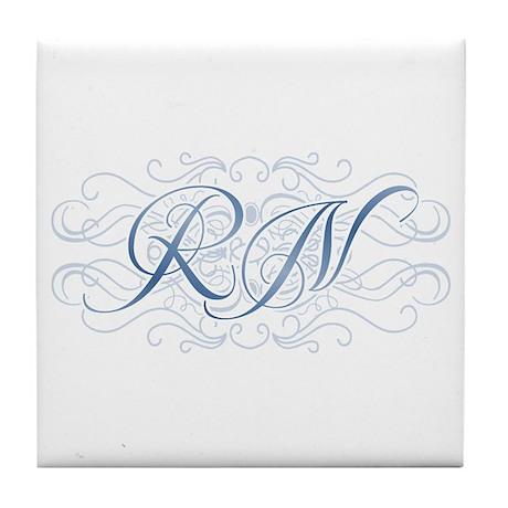 RN Fancy Graphic Nurse Tile Coaster