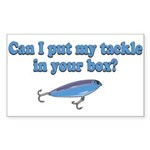 Tackle Box Sharing Rectangle Sticker