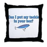 Tackle Box Sharing Throw Pillow