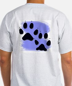 Gray Wolf Tracks Ash Grey T-Shirt