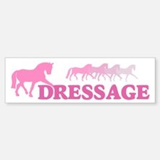 Dressage Horses (pink) Bumper Bumper Bumper Sticker