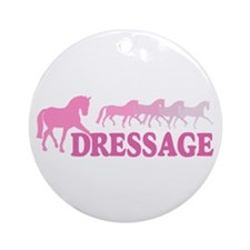 Dressage Horses (pink) Ornament (Round)