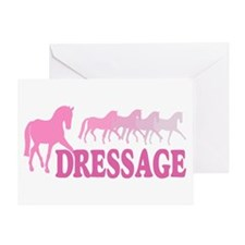 Dressage Horses (pink) Greeting Card