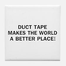 Duct Tape World Tile Coaster