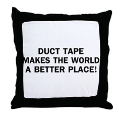 Duct Tape World Throw Pillow