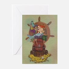 Pirate & Mermaid Greeting Cards (10) Toast Inside