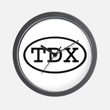TDX Oval Wall Clock