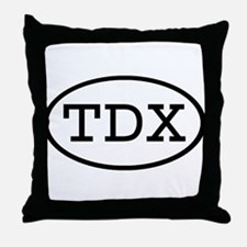 TDX Oval Throw Pillow