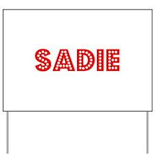 Retro Sadie (Red) Yard Sign