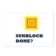 Sunblock Done? 2 Postcards (Package of 8)