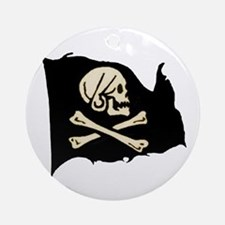 Henry Avery Pirate Flag Keepsake (Round)
