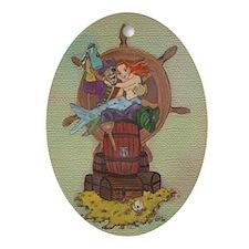 Pirate & Mermaid Keepsake Oval Ornament