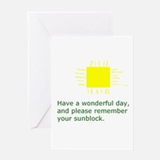 Sunblock Reminder Greeting Card