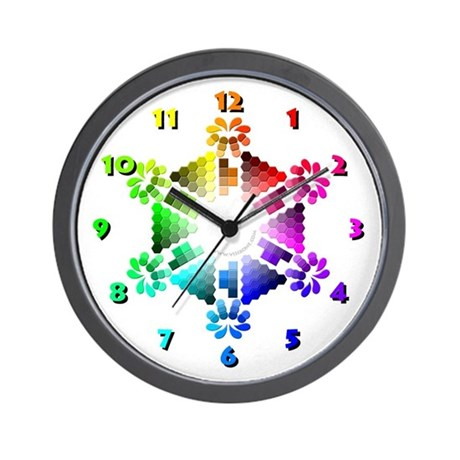 Webmaster's Color Palette Wall Clock