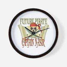 Captain Nasir Wall Clock
