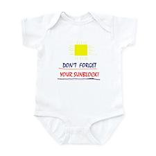 Sunblock Reminder Infant Bodysuit