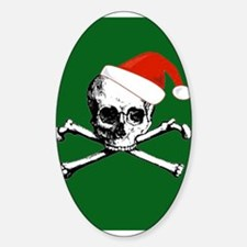 Santa Skull Oval Decal
