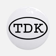 TDK Oval Ornament (Round)