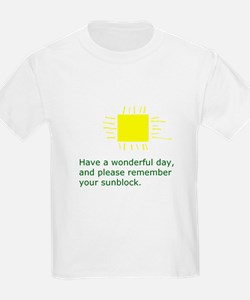 Sunblock Reminder T-Shirt