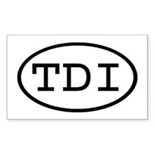 TDI Oval Rectangle Stickers