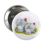 "White Frizzle Cochins 2.25"" Button (10 pack)"