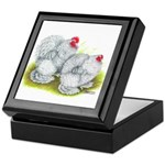 White Frizzle Cochins Keepsake Box