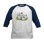 White Frizzle Cochins Kids Baseball Jersey