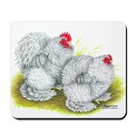 White Frizzle Cochins Mousepad
