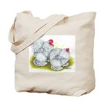 White Frizzle Cochins Tote Bag
