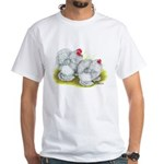 White Frizzle Cochins White T-Shirt
