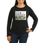 White Frizzle Cochins Women's Long Sleeve Dark T-S